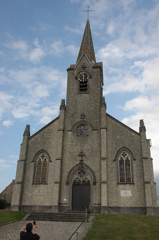 Front view of St Catherine's church, Plancenoit.